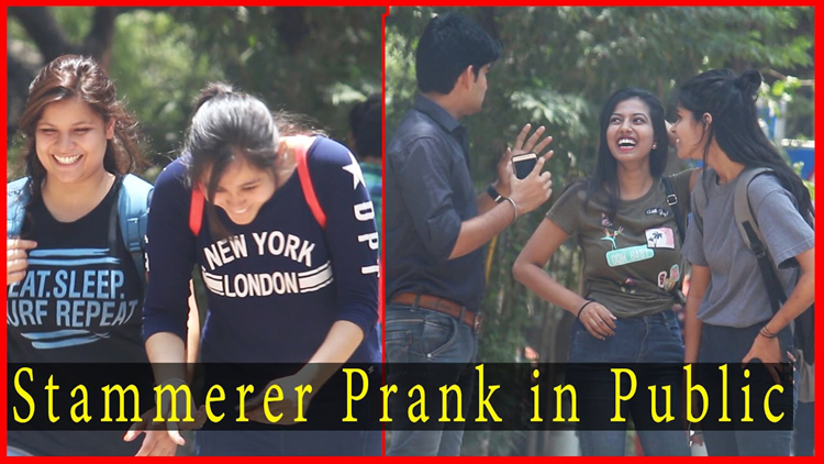 Stammerer Prank Prank on Public Prank In India 2017 THF Ab Mauj Legi Dilli