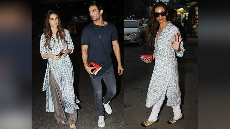 sushant singh rajput With kriti sanon And Other Celebs Spotted At Airport