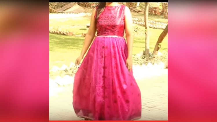 Convert Old Saree Into Long Gown Dress DIY