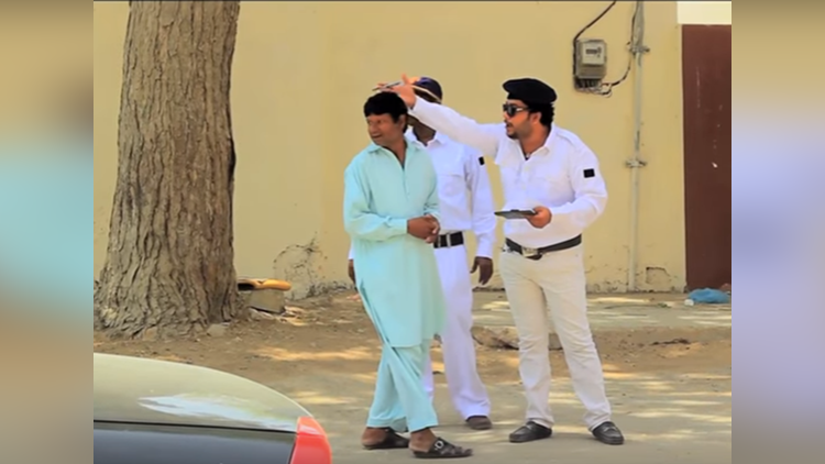 Traffic Police Prank By Nadir Ali and Sanata and Ahmed khan In P4 Pakao