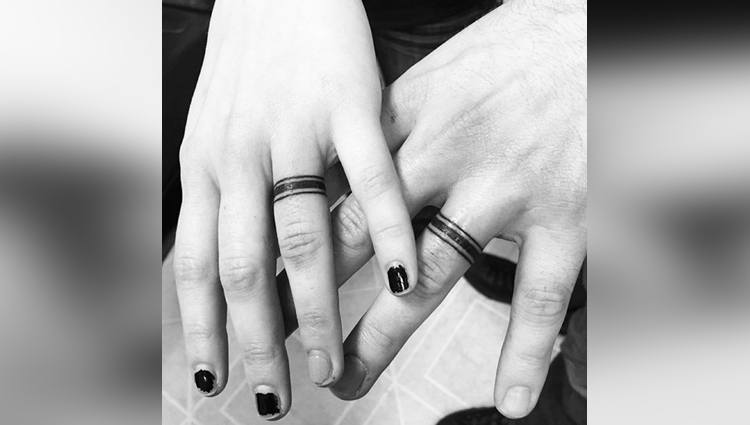 Wedding Ring Tattoos for couples