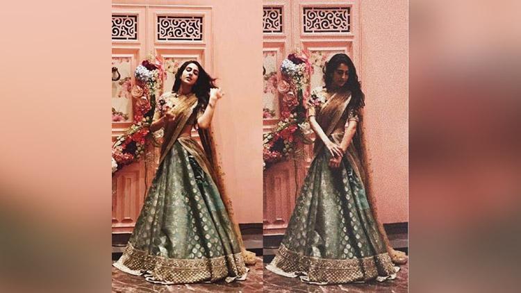 sara ali khan looks stunning in lehenga
