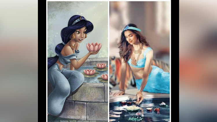 Deepika Padukone re-imagined as Disney princesses looks stunning