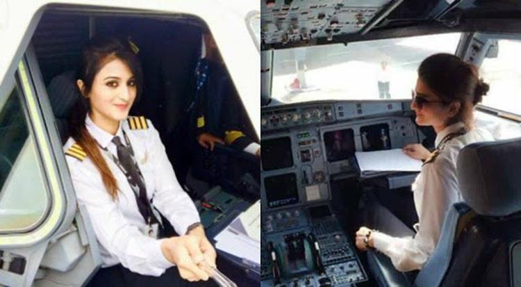 pakistani female pilot Viral photos