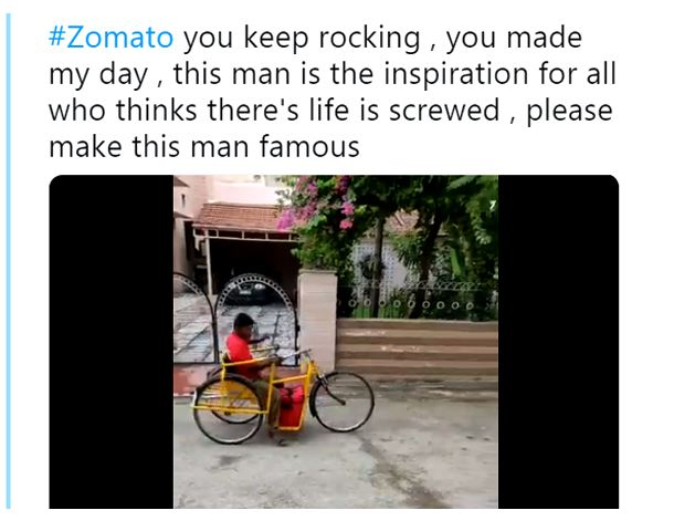 Differently Abled Guy Works For Zomato