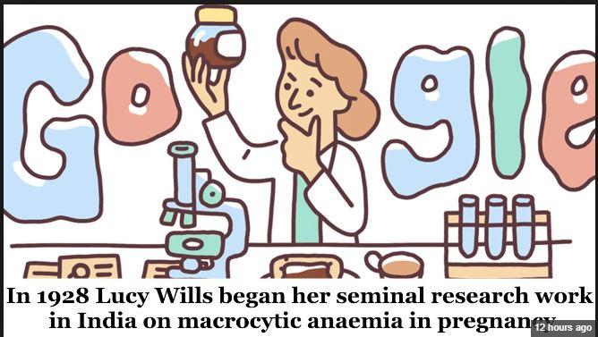 Google Doodle Google Celebrates Haematologist Lucy Wills