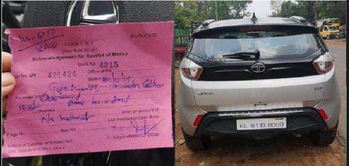 Tata Nexon Driver Fined for Not Wearing a Helmet in Kerala