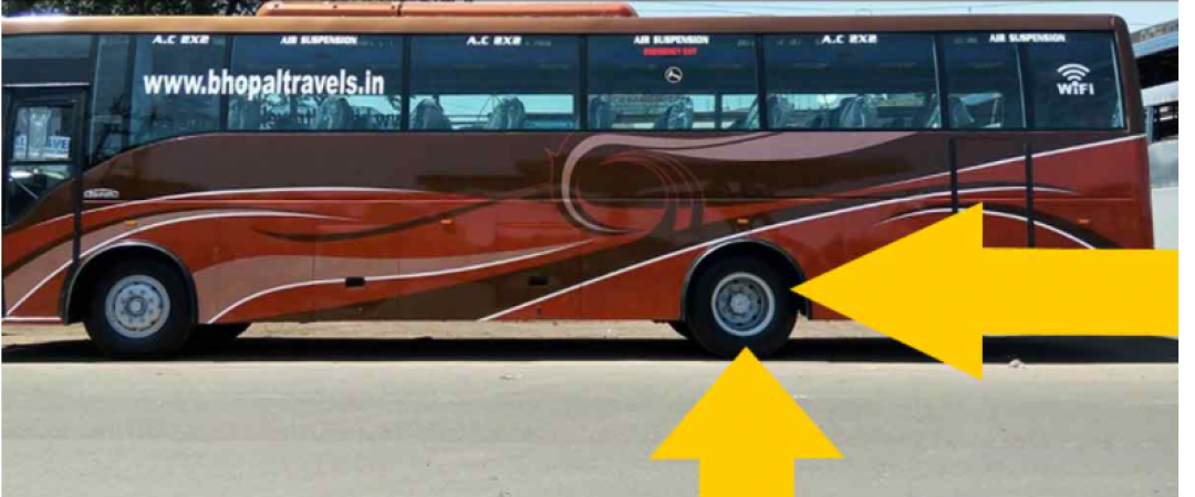do you know why buses have not tyre in last