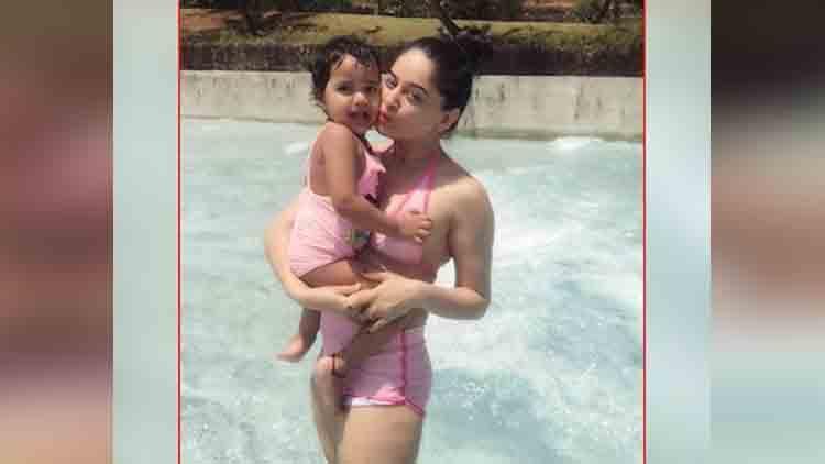 mahhi vij looks stunning in a pink bikini