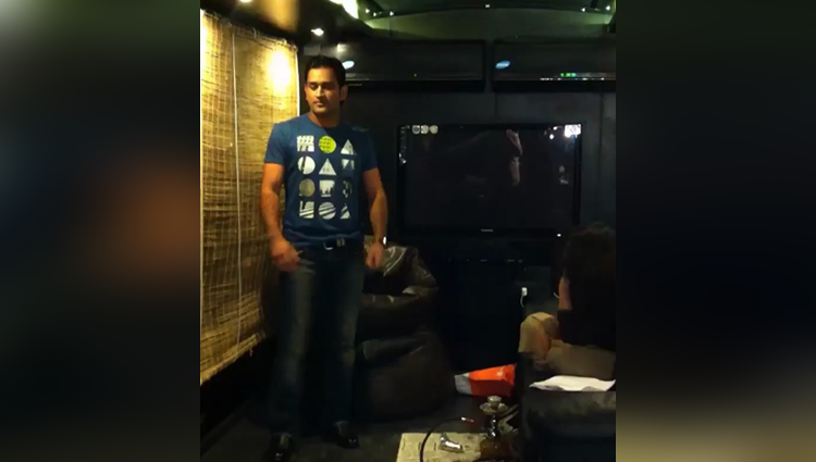 Watch MS Dhoni dancing on Desi Boyz song Sakshi can not stop laughing