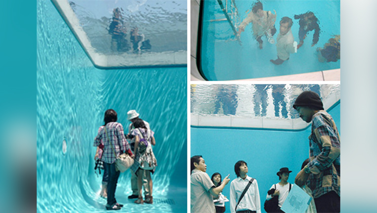 The fake swimming pool that creates the illusion