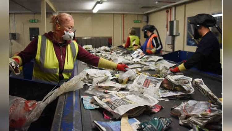 waste paper from norfolk is being shipped 13000 miles away to china for recycling