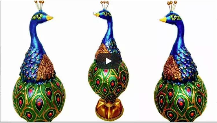 How to make Clay Mural Peacock with waste materials Craft from waste Shilpkar Craft