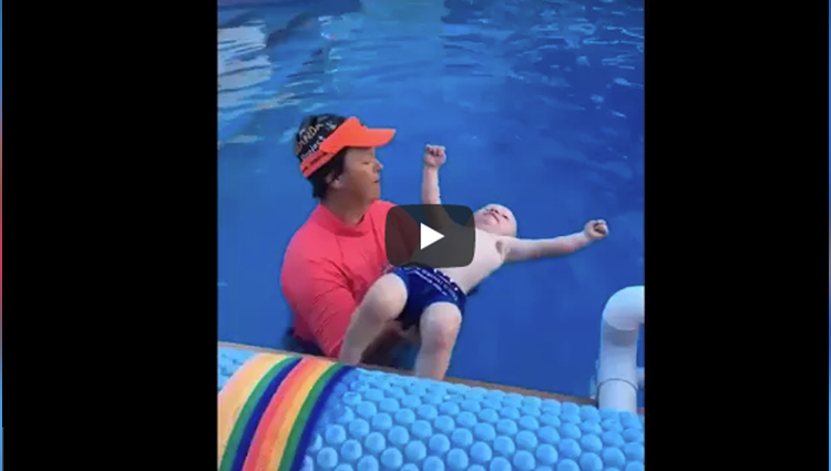 Mum Shares What Happens When Her 9 Month Old Baby is Dropped into Pool