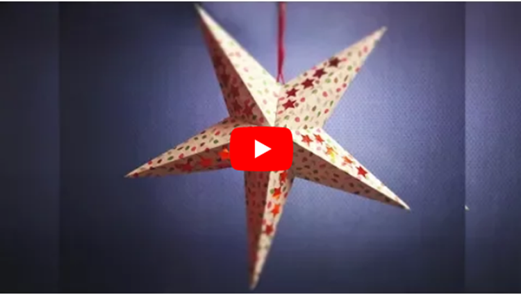 Christmas Star Making Step by Step Paper Star Template Christmas Decorations