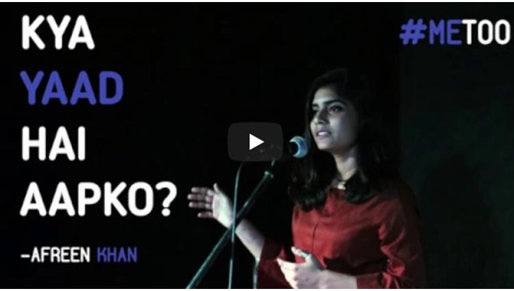 Kya Yaad Hai Aapko MeToo Afreen Khan Kahaaniya A Storytelling Open Mic By Tape A Tale