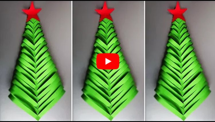 DIY Paper Christmas Tree Christmas Tree Ornaments Christmas Decorations