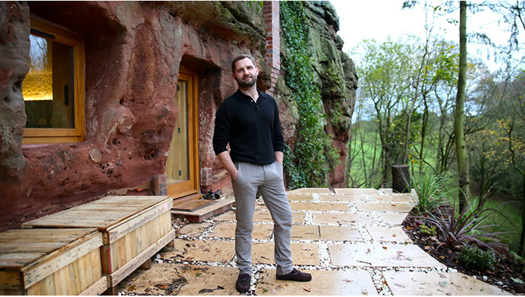 this man made his dream house in caves