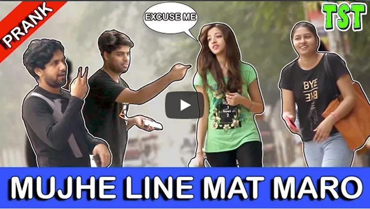Line Mat Maro Prank on Girls TST
