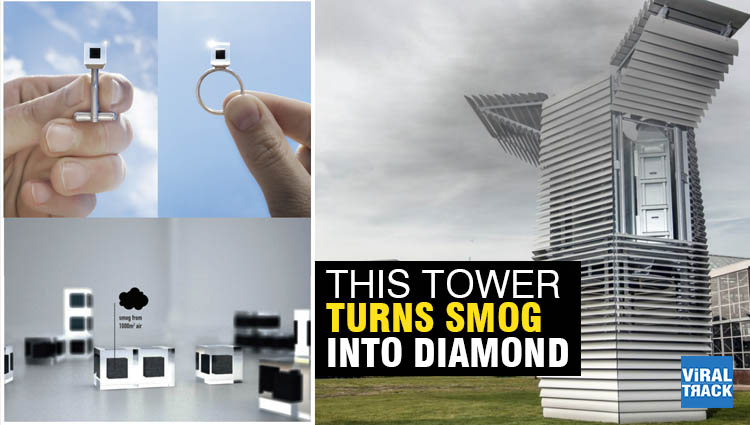 this tower sucks in beijings smog and turns it into diamonds