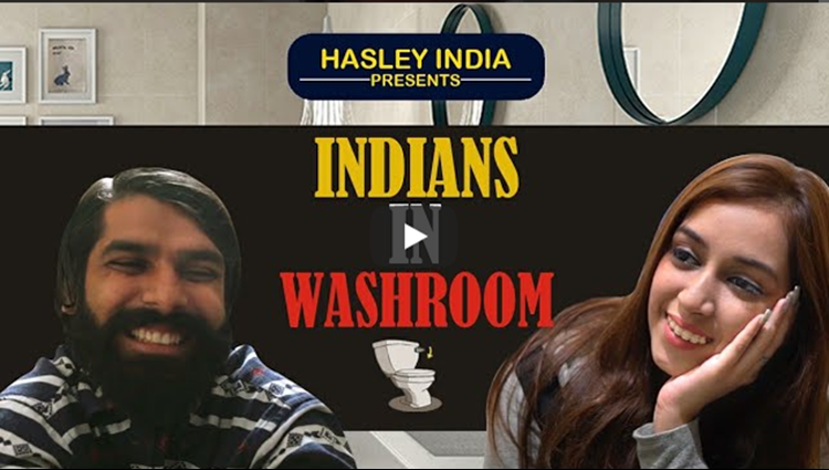 INDIANS IN WASHROOM Hasley India