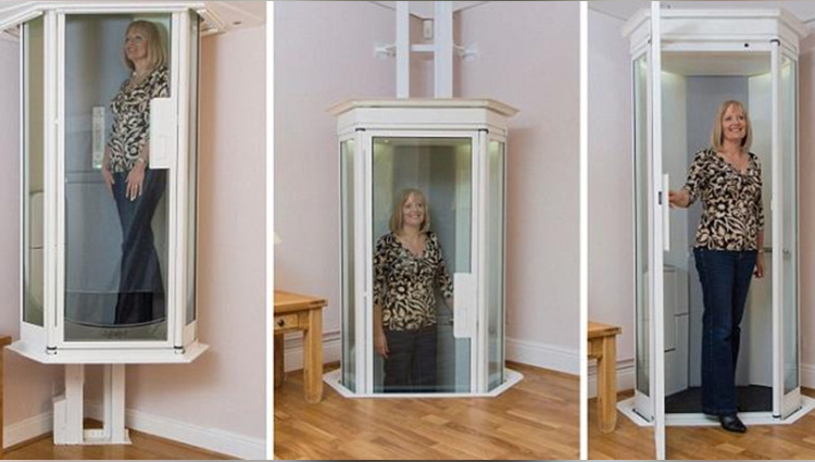 Small elevator for duplex houses