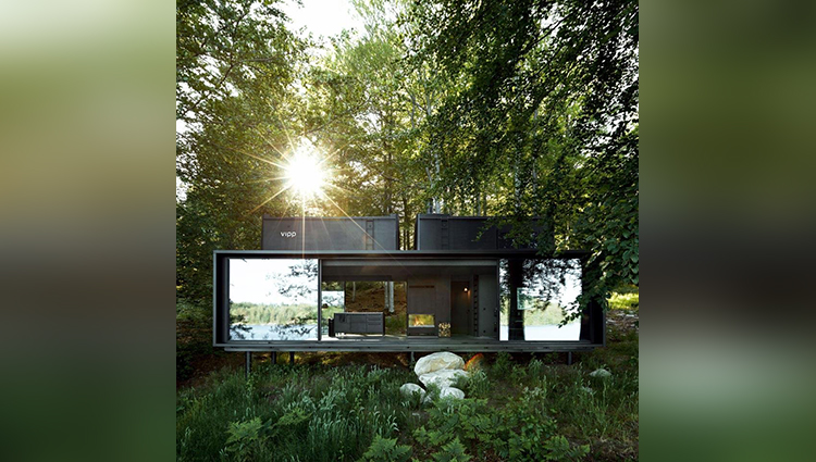 This stunning cabin tucked away in the heart of a forest allows you to really get back to nature