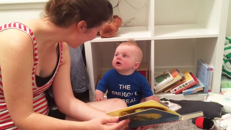 10 months old book lover baby