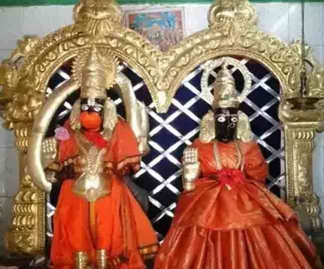 temple of lord hanuman and his wife Suvarchala