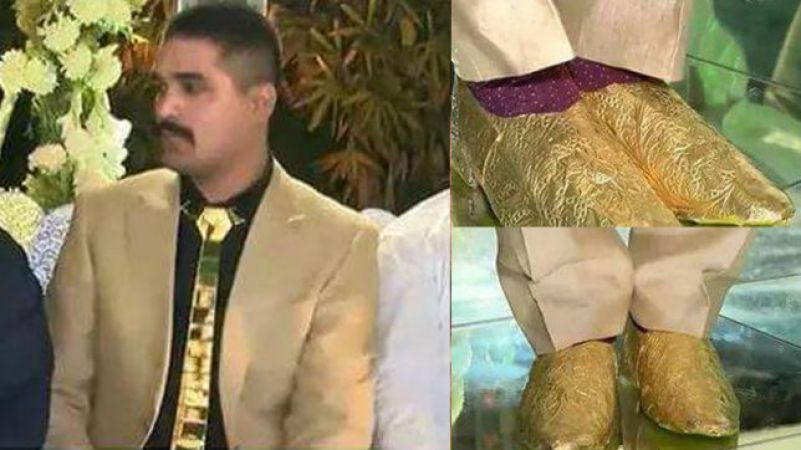 pakistani gold groom pakistan gold shoes gold tie pakistani groom who wear gold