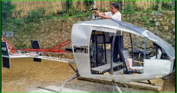 Indonesian Man Is Building His Own Helicopter To Avoid traffic jams