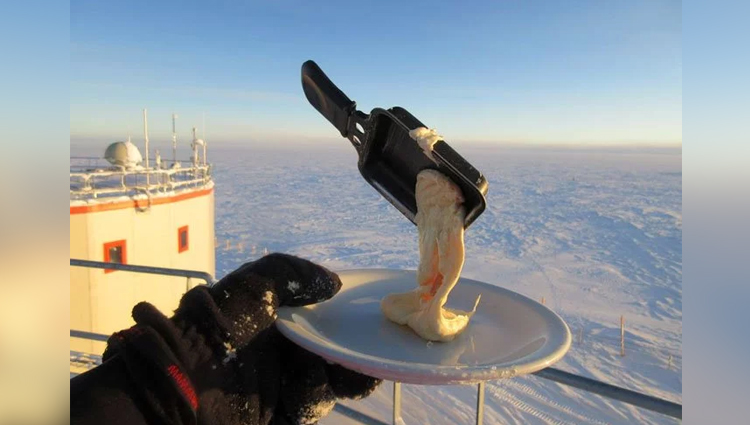 Astrobiologist Tries Cooking In Antarctica At 94 degree F