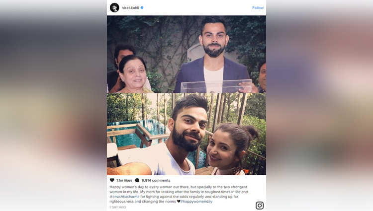 Virat Kohli Wishes Happy Women's Day To His Mother And Ladylove Anushka Sharma On Twitter