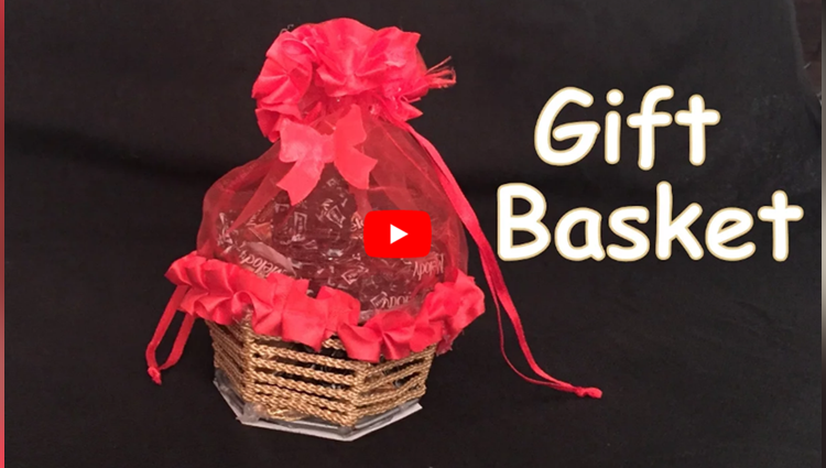 DIY - How to make beautiful gift basket? Diwali/ New year gift ideas/ Handmade.