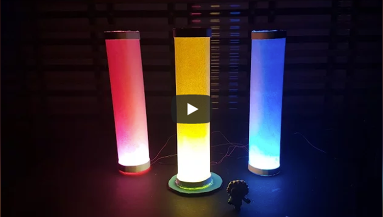 how to make colored paper lamp lantern diwali light Easy Way