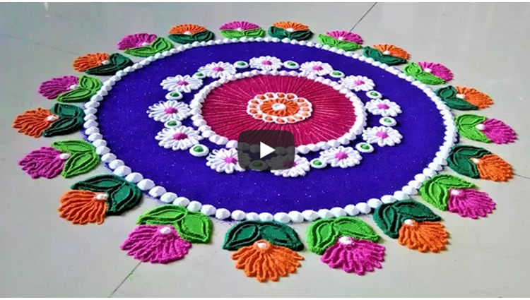 Super Easy Circle Rangoli Designs Creative Rangoli by Shital Mahajan