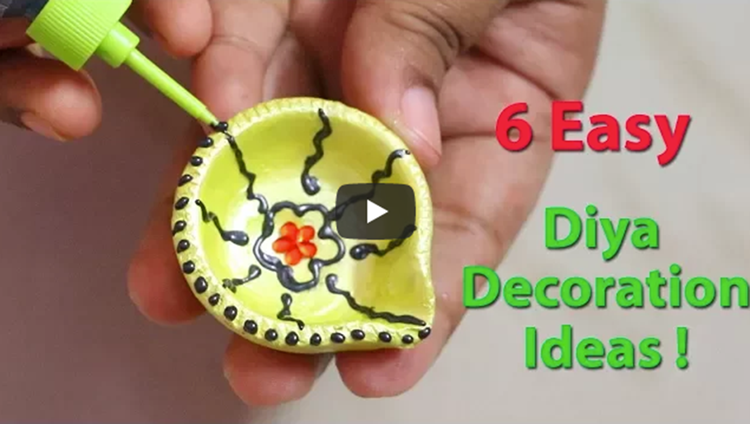Last Minute Easy Diya Decoration Ideas Diwali Home Decor Little Crafties
