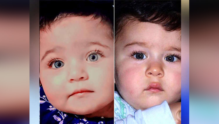OMG This baby girl from UAE looks exactly like Taimur Ali Khan