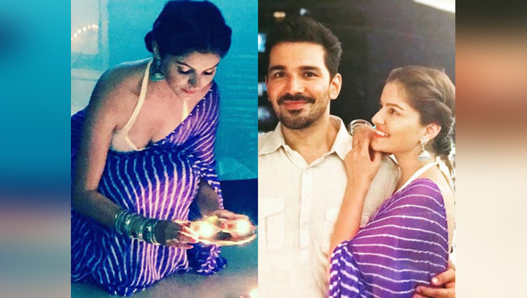 Rubina Dilaik Celebrates Diwali With Boyfriend Abhinav Shukla