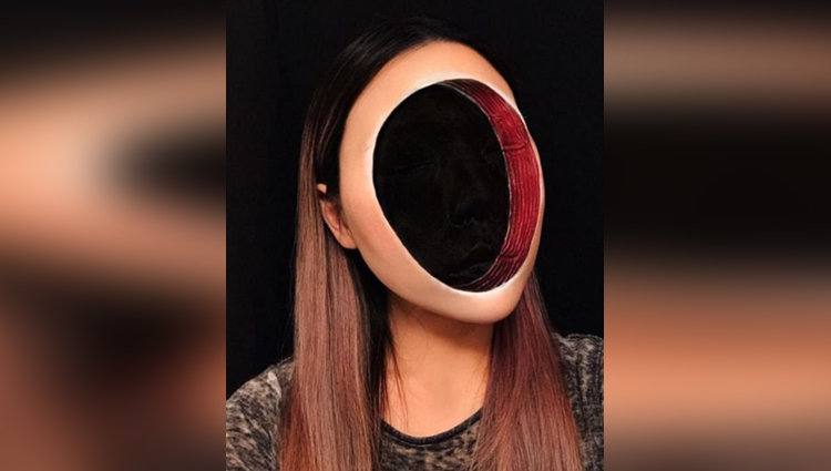 Makeup Artist Makes Scary Optical Illusions