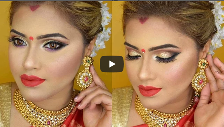 Karvachauth and Durga Puja Makeup and Hair GRWM|2017 MakeupByAzmeree