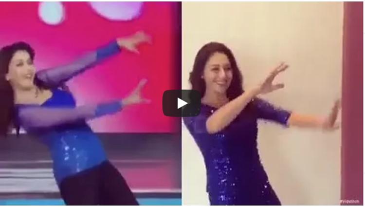 madhuri dixit and olga dance on akhyaan milaun kabhi akhyan churaaun