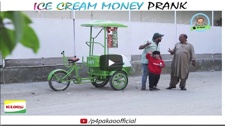 ICE CREAM MONEY PRANK By Nadir Ali and Rizwan in P4 Pakao 2017