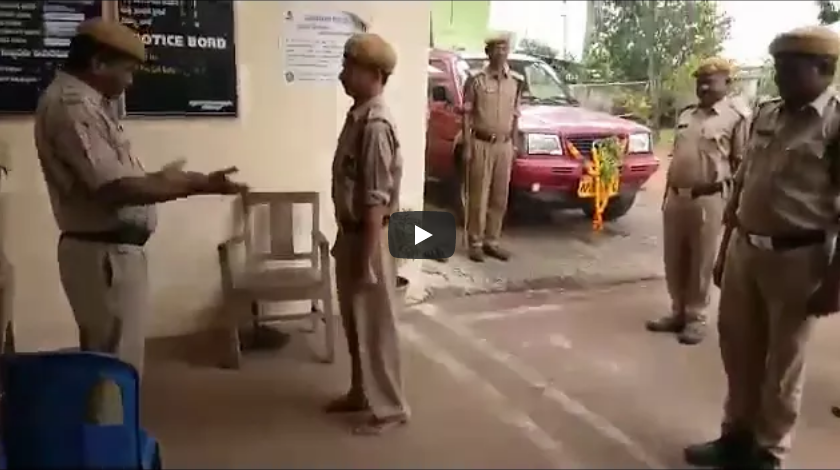 drunk policeman on duty funny video