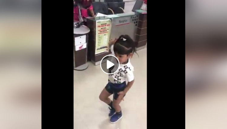 Little Indian girl dancing on pinga ga pori song