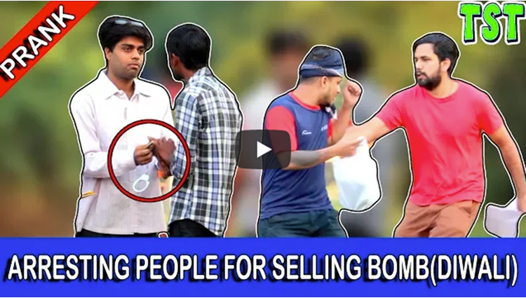 Arresting People For Selling Bomb Diwali Prank TST