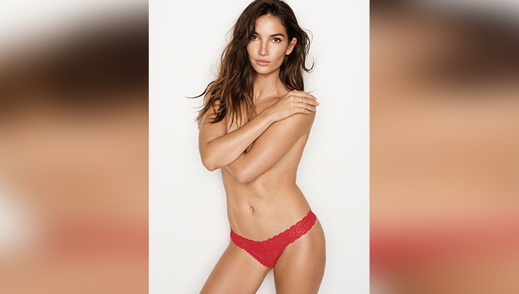 Victoria's Secret star Lily Aldridge goes topless