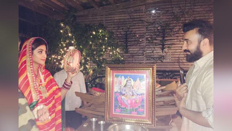 shilpa shetty gorgeous look on karwa chauth