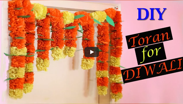Marigold Paper Flower Toran | DIY Diwali Decorations | Paper Crafts |
