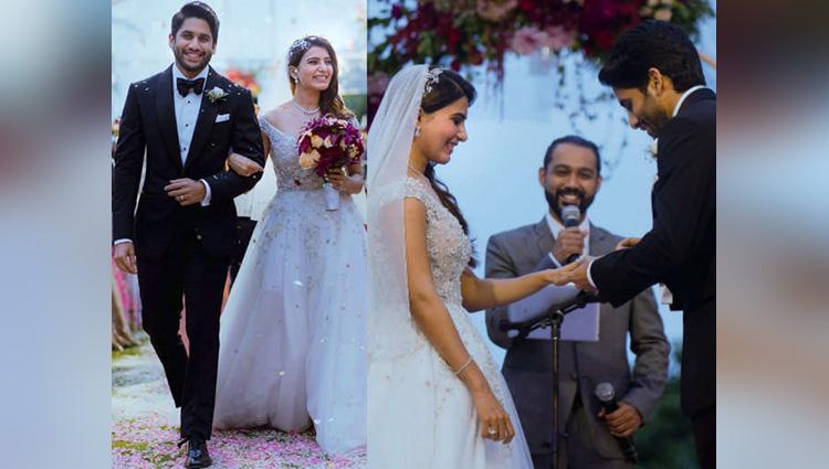 Naga Chaitanya Samantha Christian marriage pictures